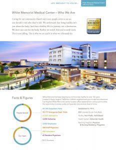 White Memorial Medical Center 2016 fact sheet